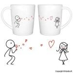 "BoldLoft ""From My Heart to Yours"" Couple Coffee Mugs-Romantic Valentine's Day Gifts for Couples,Cute Valentines Gifts for Him or Her,Romantic Anniversary Gifts"