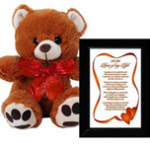 I Love You Gift for Wife, Husband, Boyfriend or Girlfriend - Birthday or Anniversary Gift - Framed Poem and Bear