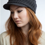 Newsboy Jeep knitted hat with short cute trendy visor winter warm for women